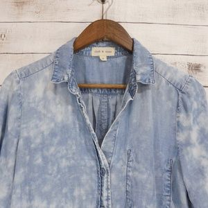 🌹cloth & stone | Acid wash chambray